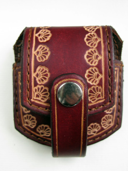 Handmade Brown Leather Pocket Watch Pouch