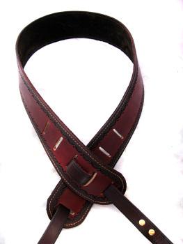 Brown Leather Cradle Banjo Strap