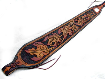 Handmade Leather Autumn Leaf Rifle Sling