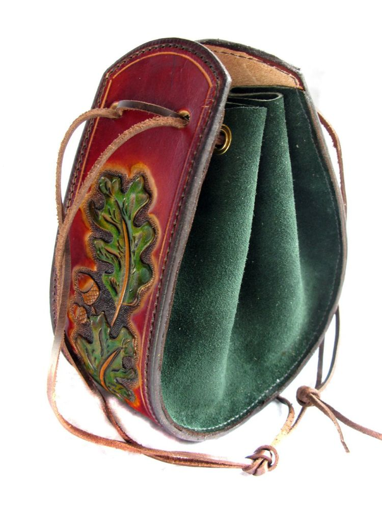 Handmade Leather Drawstring Pouch