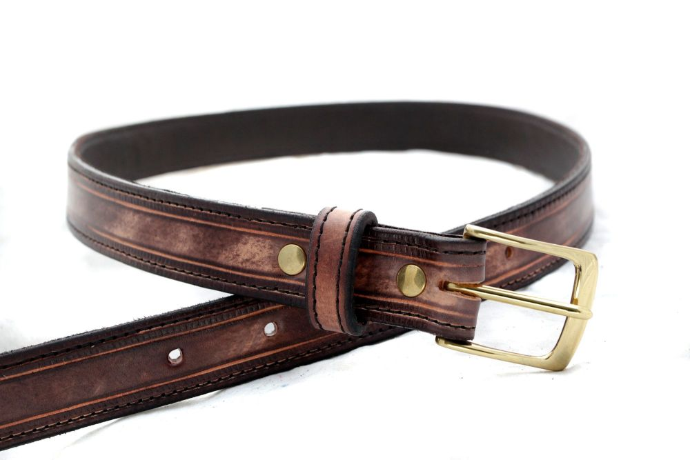 Handmade Brown Leather Belt