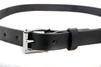 Handmade Black Leather Classic Style Belt