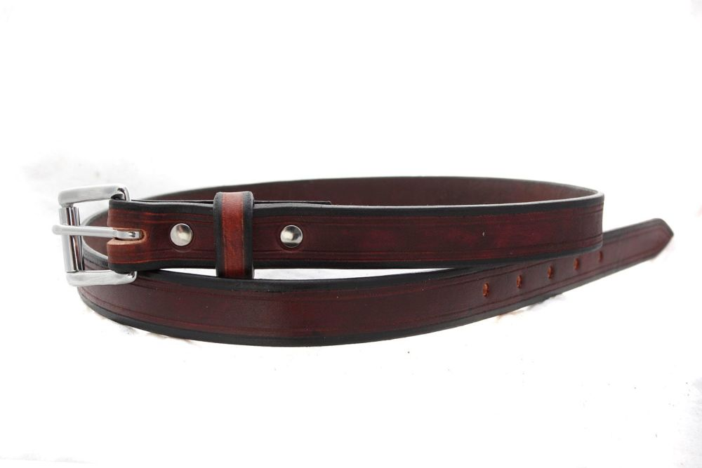 Handmade Brown Leather Classic Style Belt