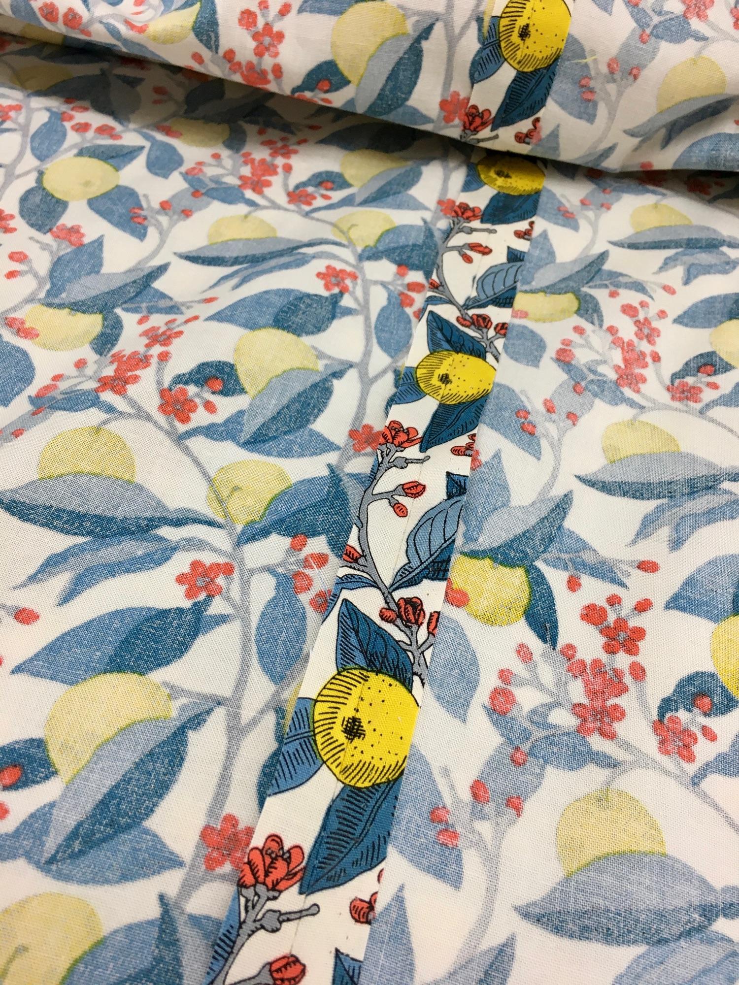 Matched backing fabric seam