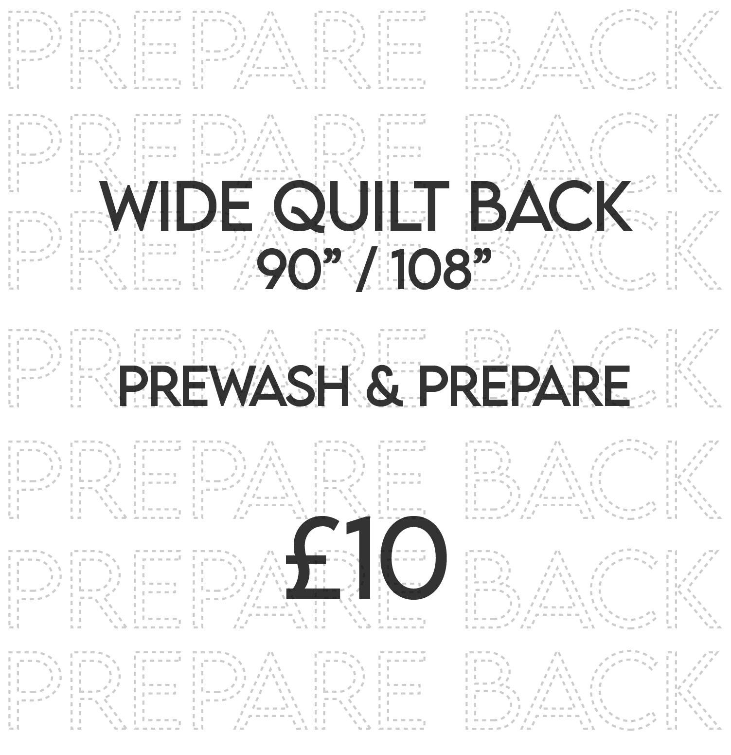 Prepare quilt back