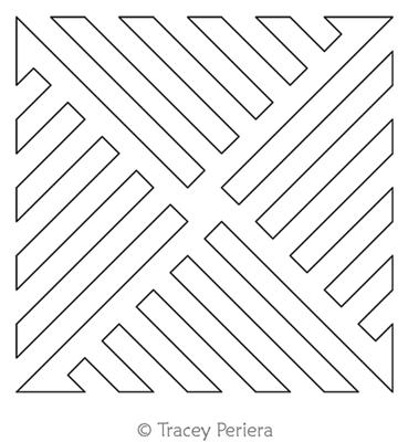 Modern Maze Block 5 by Tracey Pereira