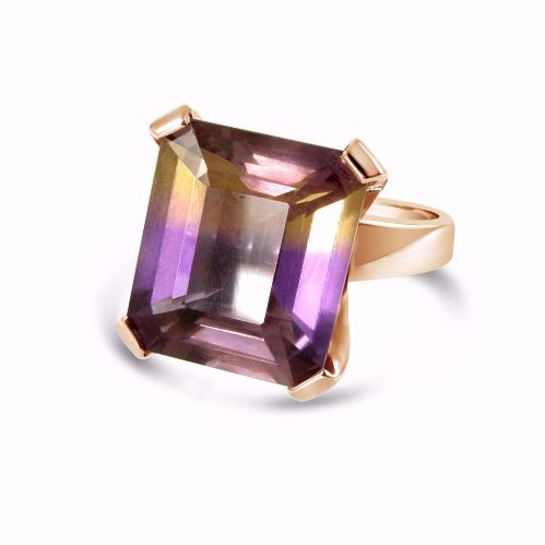 rose gold ametrine ring