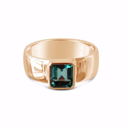 Rose gold emerald ring