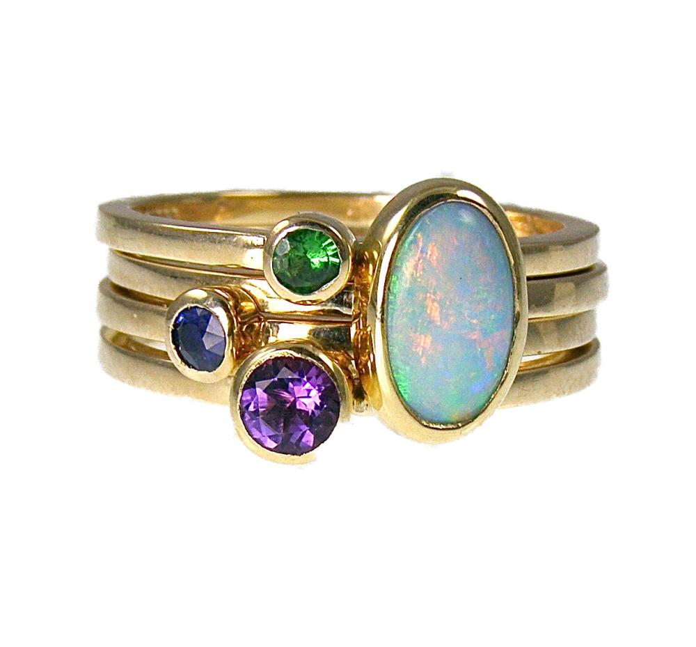 9 carat gold  stack rings