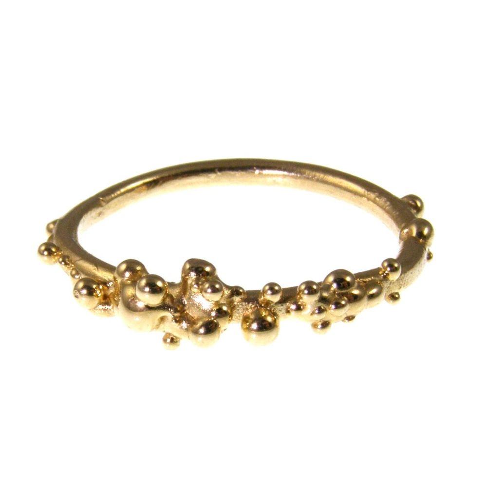Slim Gold bubble ring
