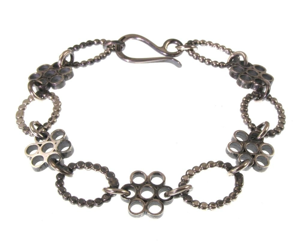 Flower block bracelet