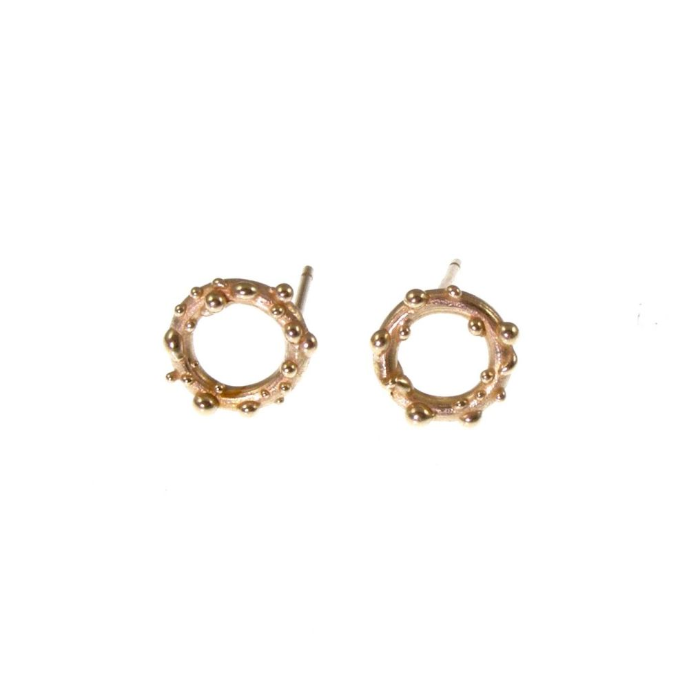 Gold bubble studs