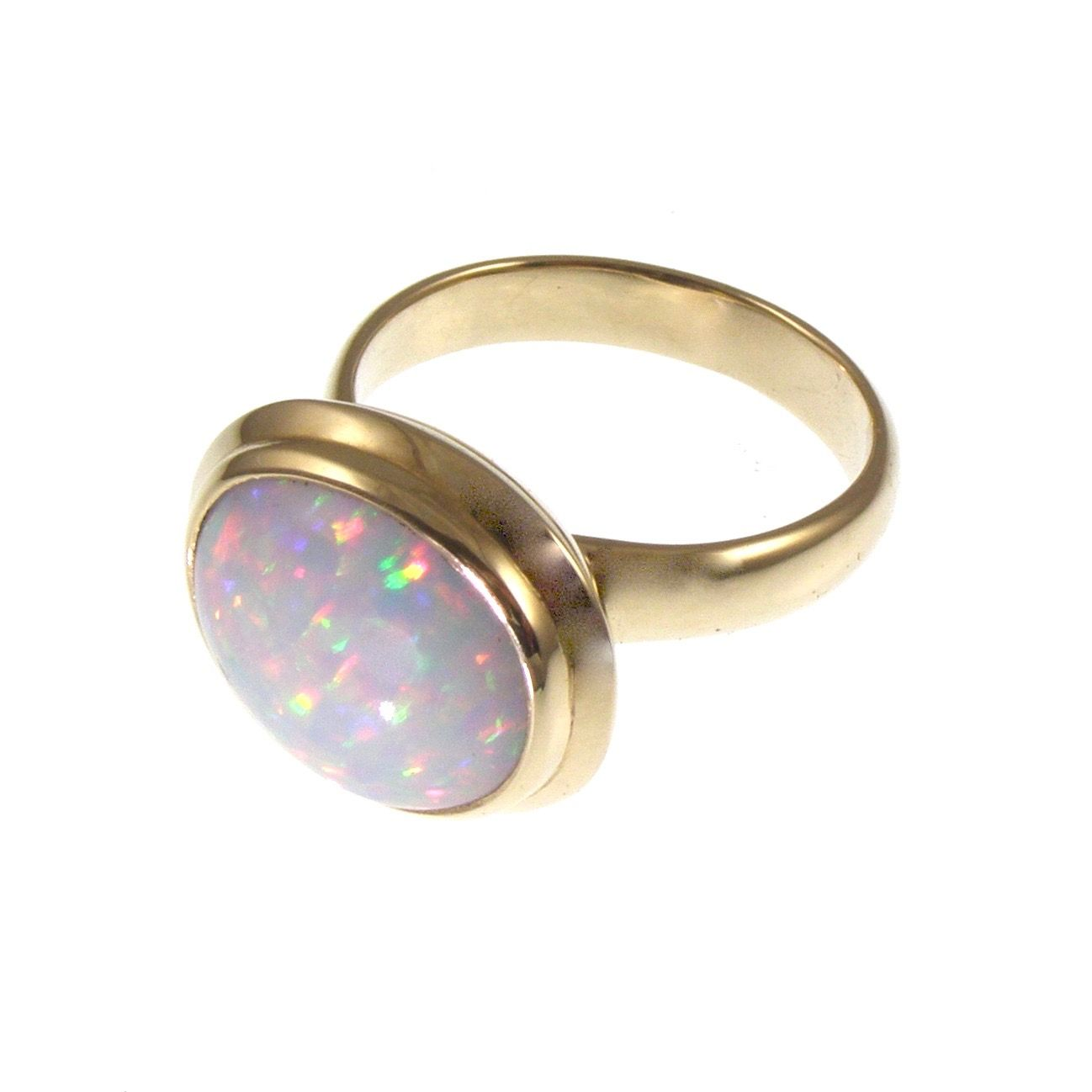 Ethiopian Opal Gold ring