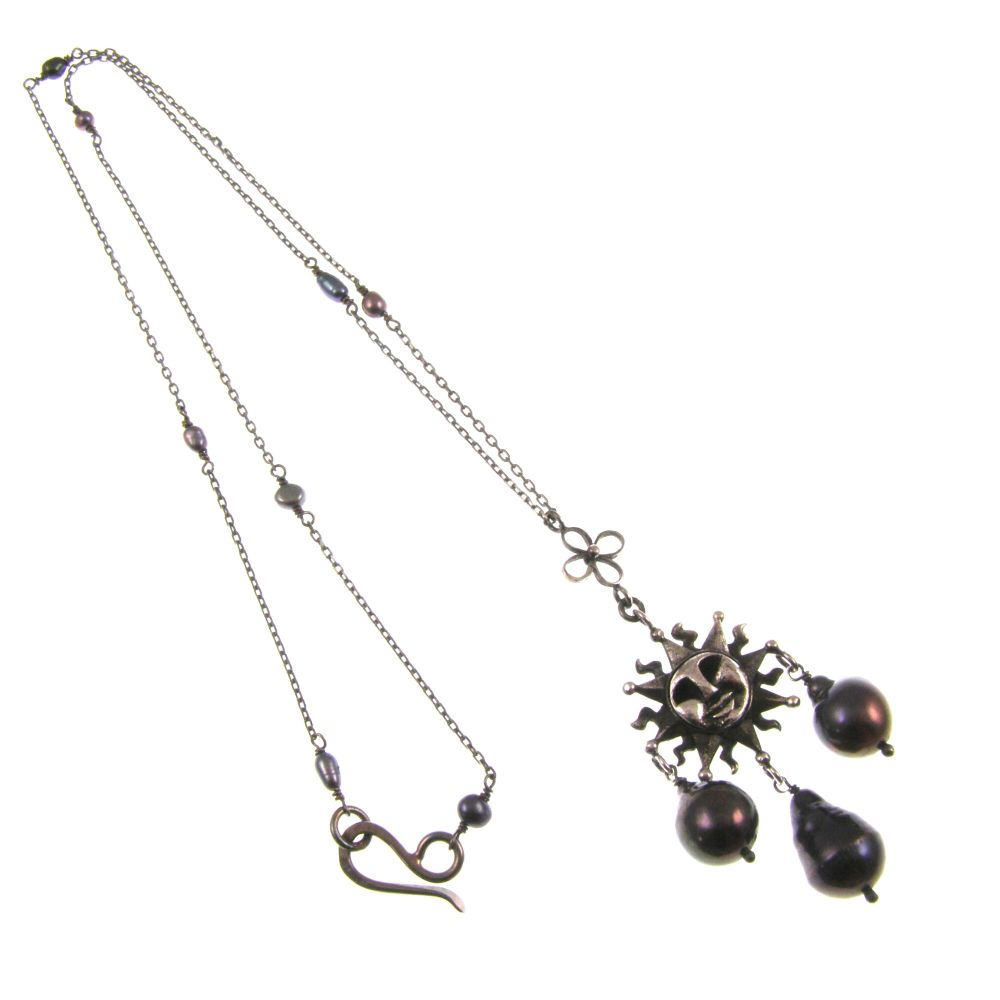 Moon and sun necklace