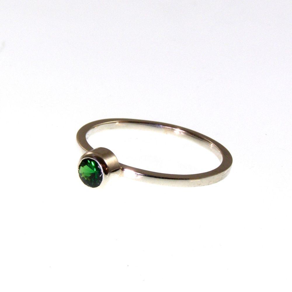 Green Tsavorite  ring