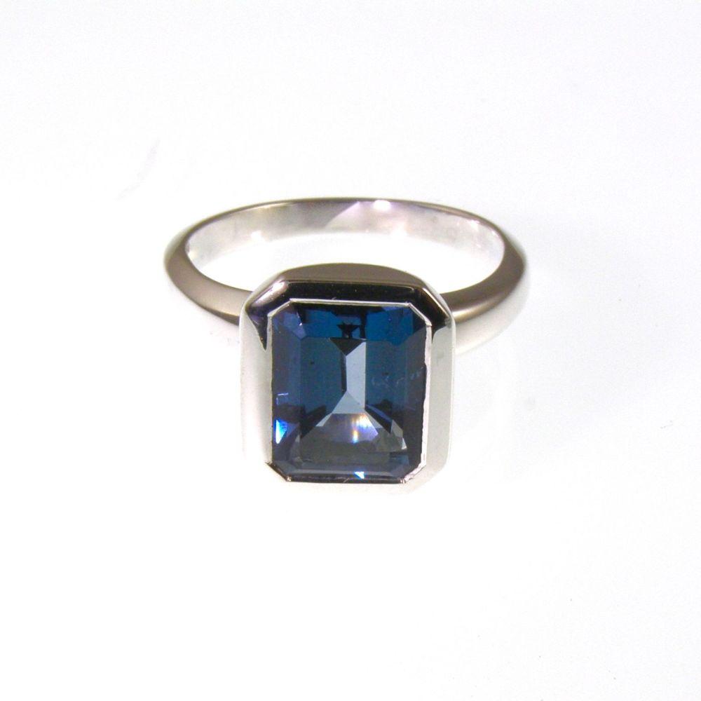Dark Blue Topaz ring