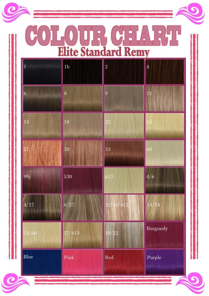 Remy Extensions Colour Chart 38