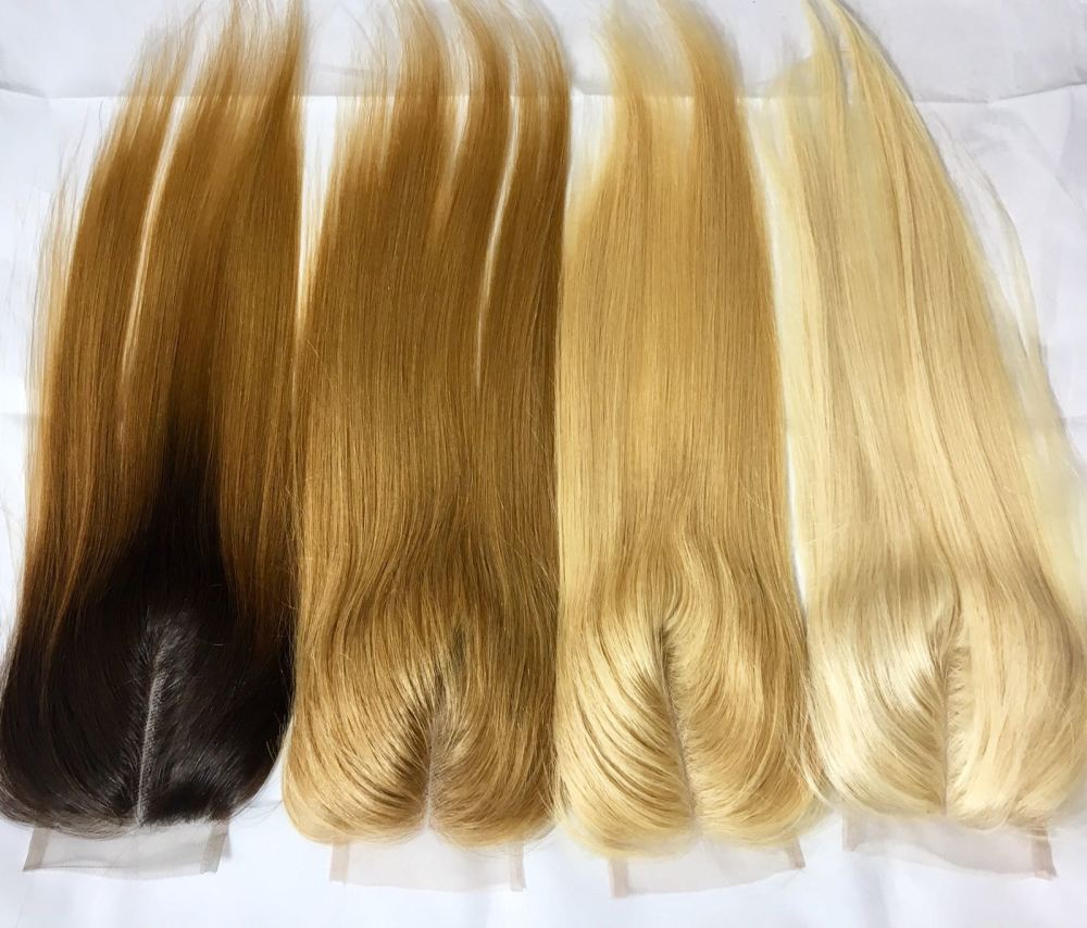 Mongolian (European) Virgin Natural Remy Hair Swiss lace CLOSURE - Density