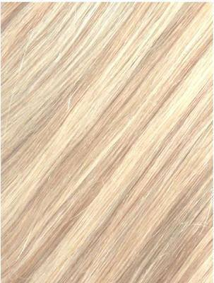 Colour #18/613 Light Ash Blonde/Bleach Bonde Remy Elite Hair Clip-ins (Full