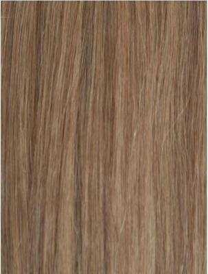 Colour #18 Light Ash Brown Remy Elite Hair Clip-ins (half head)