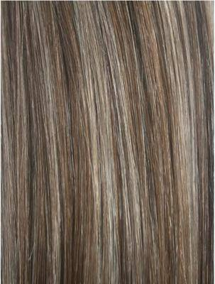 Colour #4/8 Brown/Light Brown Remy Elite Hair Clip-ins (half head)