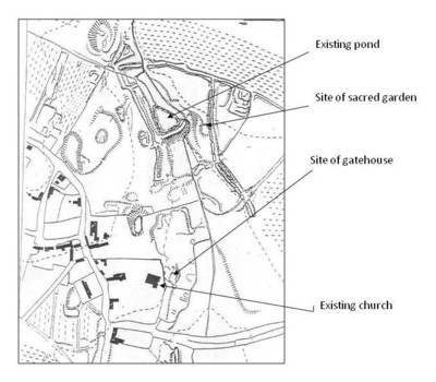 Map of earthworks
