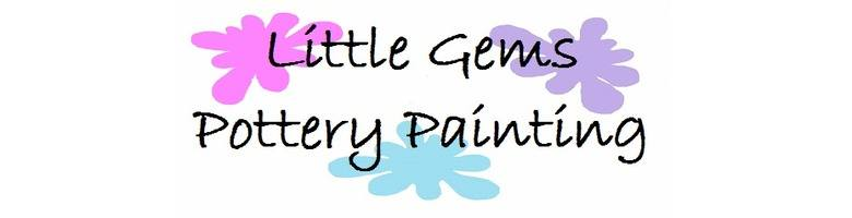 little gems pottery painting, site logo.