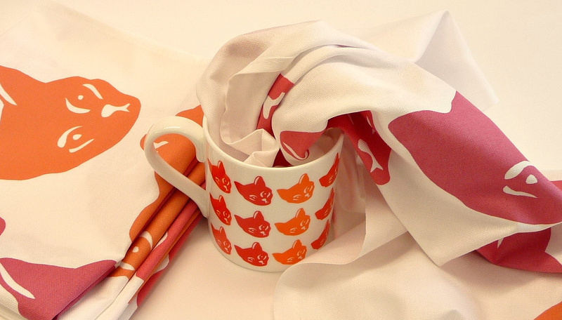 coco teatowels and mug