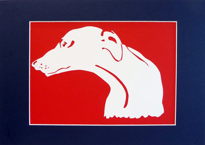 Greyhound Papercut