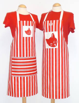 Cat Stripe Apron