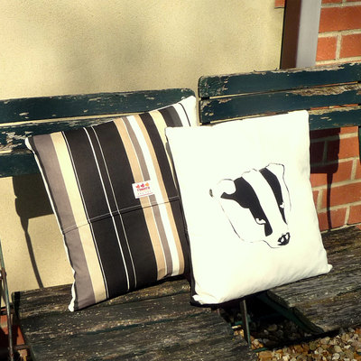 Badger Cushion - Onyx Stripe
