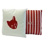 Cat Cushion - Red Stripe