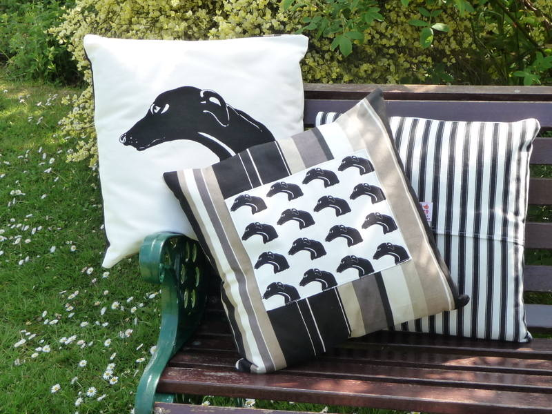Greyhound cushions assorted