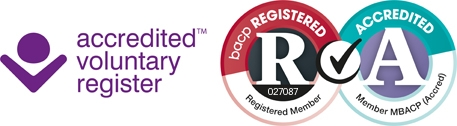 bacp web reg and accred logo standard
