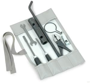 Tool Kit in Smooth Grey Canvas.   SCHTOOLKITSGY