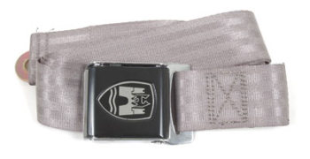 2-Point Seat Belt, Grey, Black Buckle 50-79.   ZVW20GY