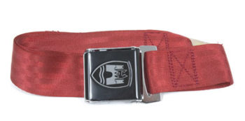 2-Point Seat Belt, Red, Black Buckle 50-79.   ZVW20RD