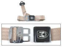3-Point Seat Belt, Almond, Black Buckle 50-79.   ZVW20AAL