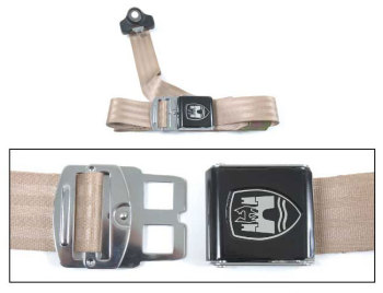 3-Point Seat Belt, Almond, Black Buckle 50-79.   ZVW20AAL