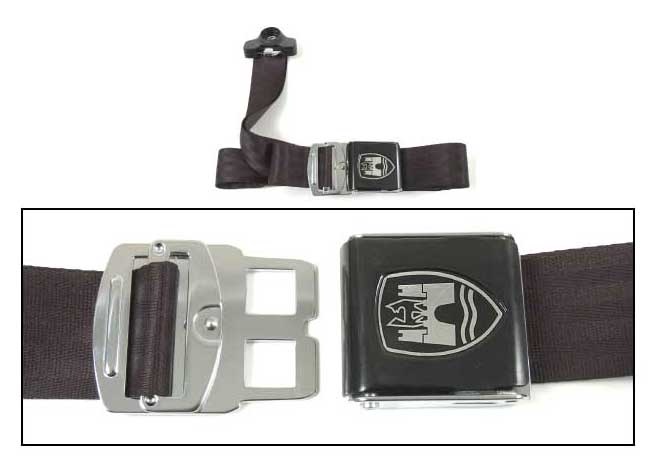 3-Point Seat Belt, Black, Black Buckle 50-67.   ZVW20ABK