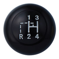 Vintage Speed Black 10mm Gear Knob with Pattern ->67.   AC7116106B