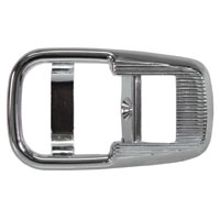 Inner Cab Door Lever Surround, Chrome 69-73, Sold Each.  411-837-097