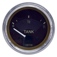 Smiths Fuel Gauge, 6volt with Brown Face.   AC9570726