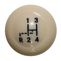 Vintage Speed Ivory 10mm Gear Knob with Pattern ->67. AC7116107I