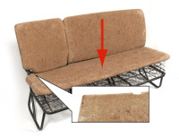 Middle Seat Pad Bottom Section, for seat with fold down end 55-63.   211-883-373