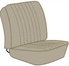 Seat Cover Set 68-74 Walkthrough, Beige.   211-881-002EBG