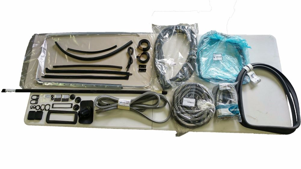 Complete Seal Bundle Kit LHD 68-71, with Opening 1/4 Lights, Top Quality Fr