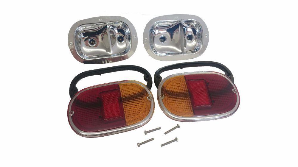 Complete Rear Lights, Pair 62-71.   211-945-237KIT