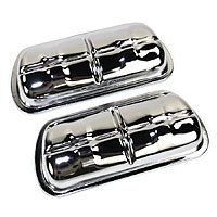 Rocker Covers, Chrome including clips (SET).  AC101401