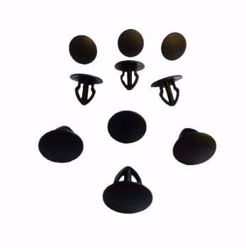 T25 Door Panel Clips, Set of 10, Black.   251-867-299 01C